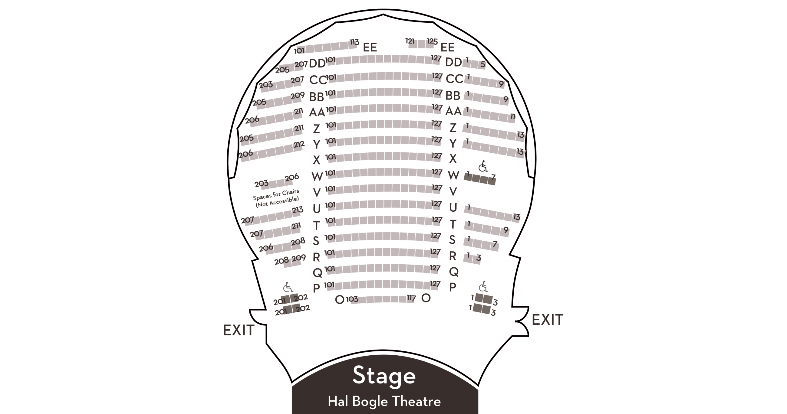 Intimate CCA 346-seat performance space