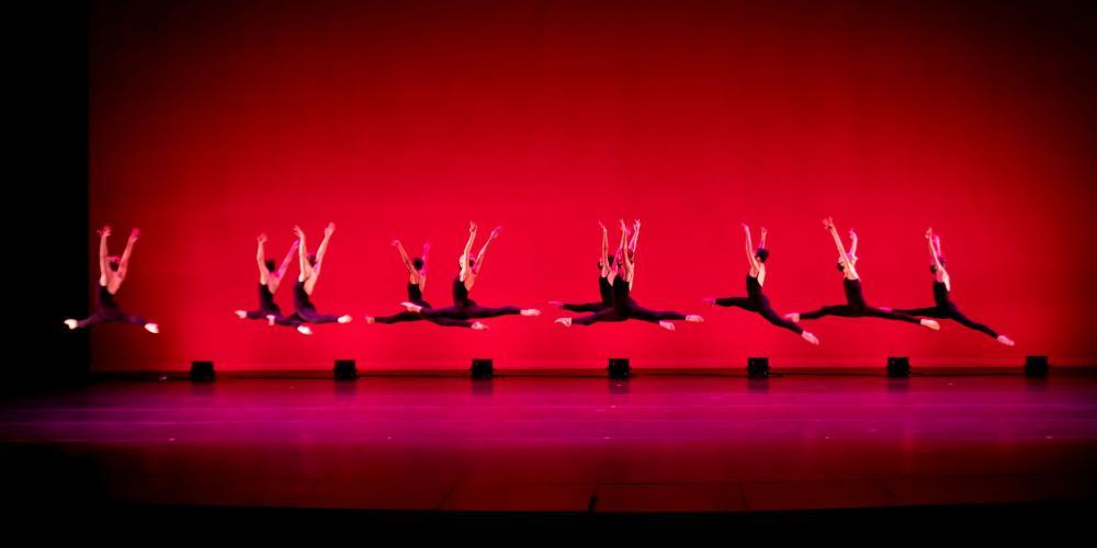 Ballet Etudes Leaping Dancers