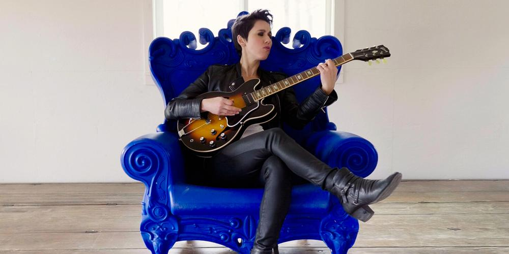 Austin musician Gina Chavez performs in the CCA Anywhere Series