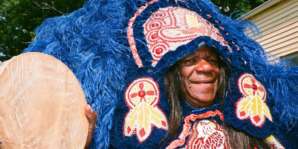 Big Chief Monk Boudreaux of the Golden Eagles in Take Me To The River - New Orleans LIVE!