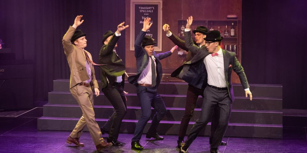 The Tap Pack is a modern twist on the Rat Pack with tap, song and comedy