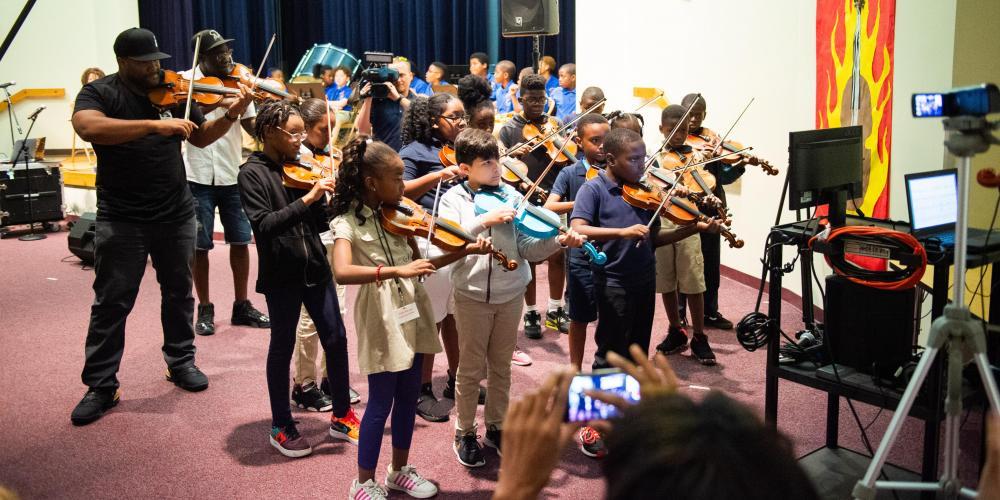 Virtual Theatre Kids with Black Violin