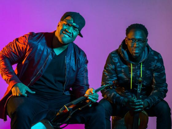 Black Violin performs for students at Chandler Center for the Arts