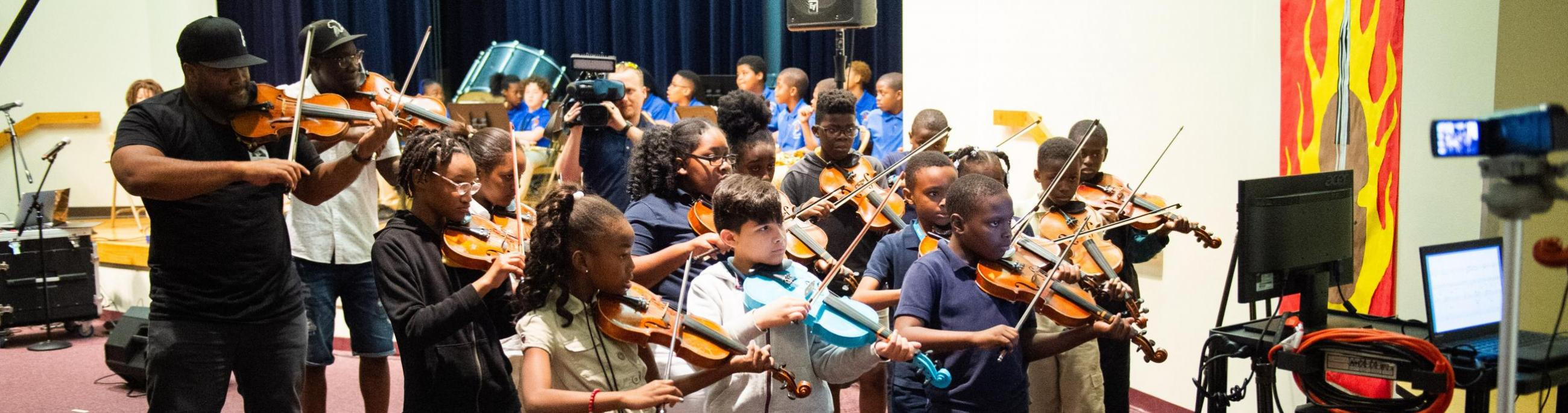 Theatre Kids presents a virtual field trip experience with Black Violin