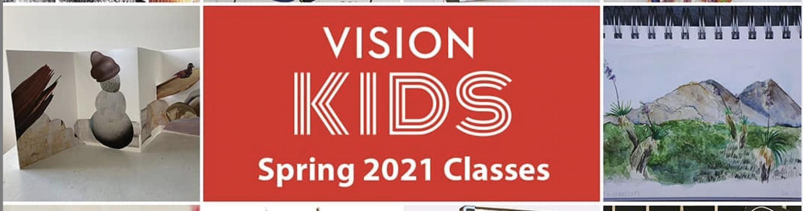 Vision Kids in white text on a red background.