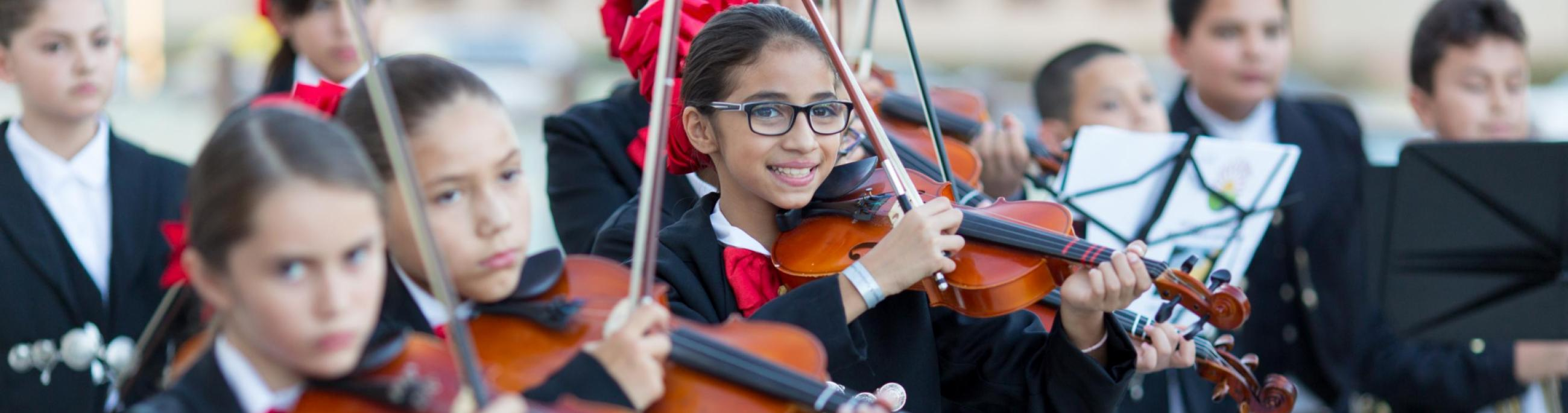 Kids enjoying Mariachi Festival through Chandler Youth Programs