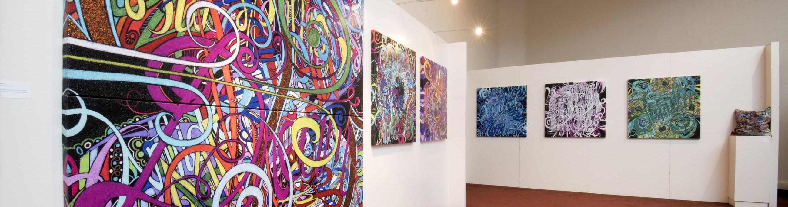 The Gallery at CCA has rotating exhibitions throughout the year