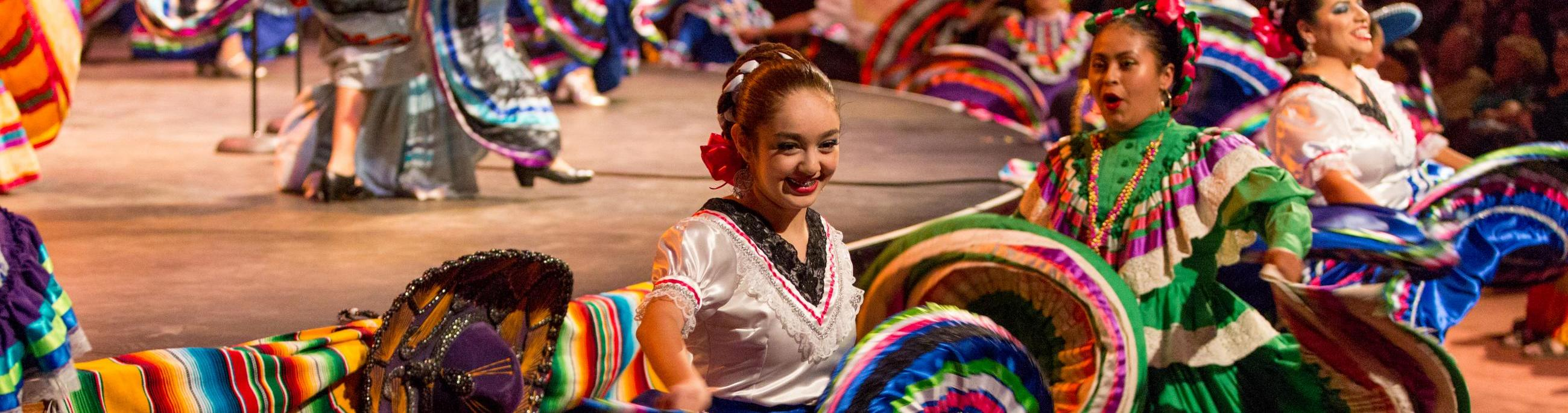 Dancers in action at the mariachi festival