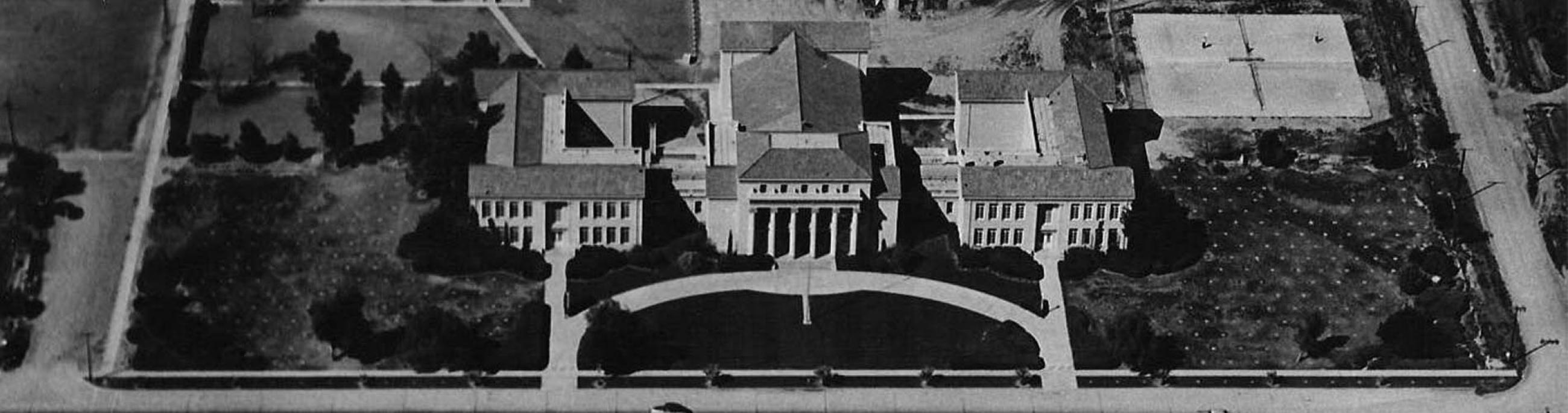 Aerial photo of Chandler High School, 1965, photo provided by Chandler Museum