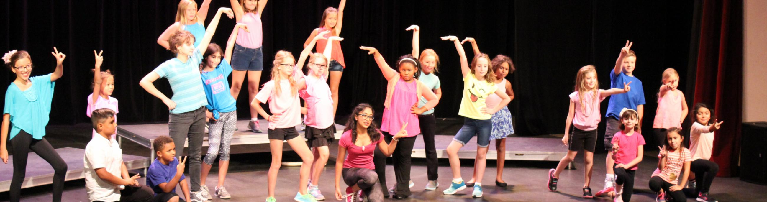 Musical theater camps taught by professional artists are offered during the summer and school intersessions to provide youth with a creative camp experience.