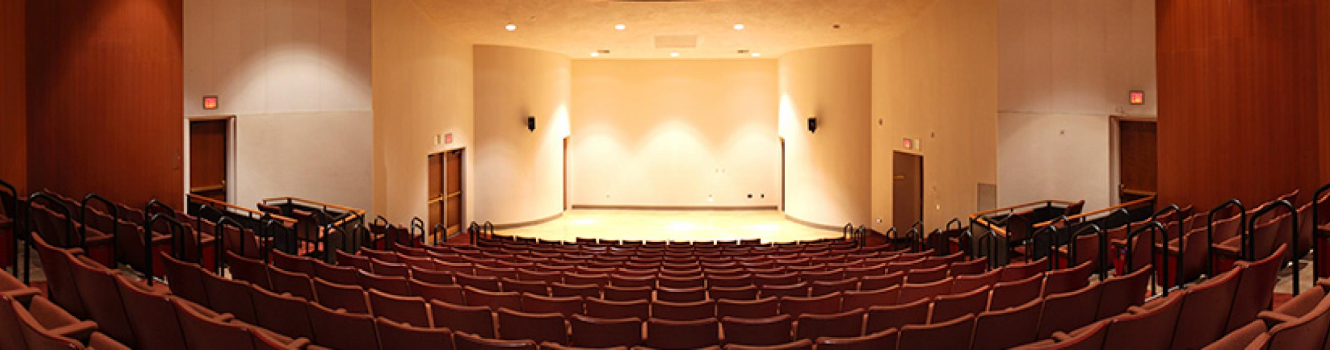 CCA's Recital Hall stage provides optimal listening and viewing for smaller recitals, lectures