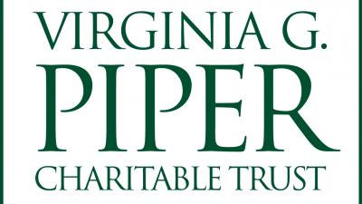 Green text on white background: Virginia G. Piper Charitable Trust